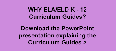 Download the PowerPoint presentation explaining the ELA/ELD K to 12 curriculum Guides